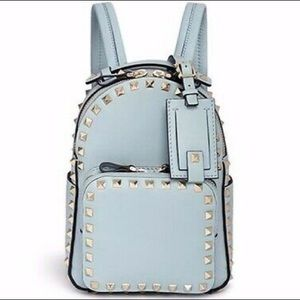 Authentic Valentino Blue Rockstud Mini Backpack